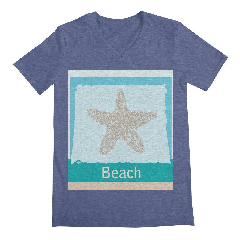 Beach Men's Regular V-Neck by snapdragon64's Shop