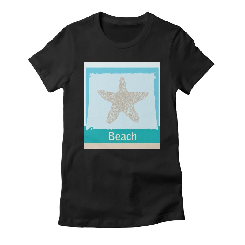 Beach Women's Fitted T-Shirt by snapdragon64's Shop