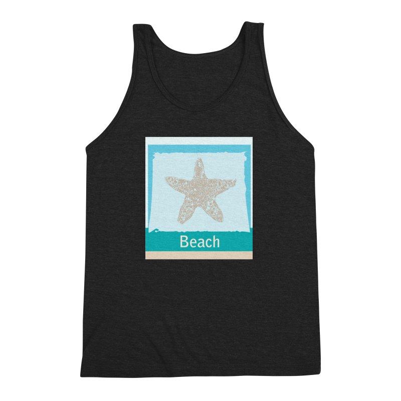 Beach Men's Triblend Tank by snapdragon64's Shop