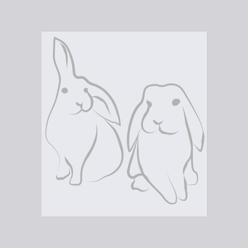 Pixie and Stan, a drawing of rabbits. by snapdragon64's Shop