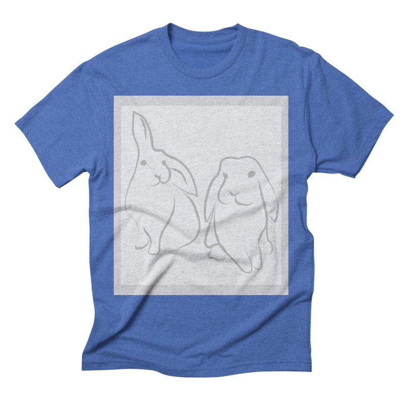 Pixie and Stan, a drawing of rabbits. Men's T-Shirt by snapdragon64's Shop
