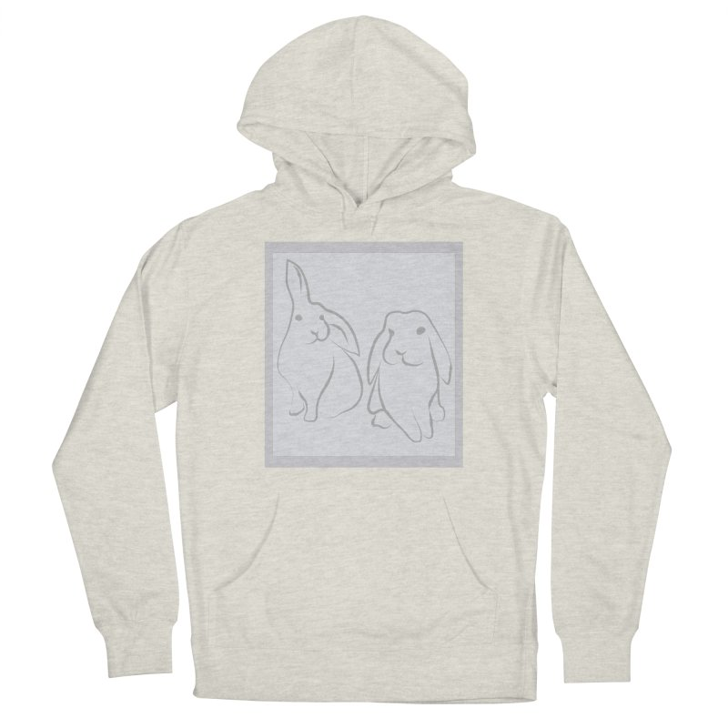 Pixie and Stan, a drawing of rabbits. Women's French Terry Pullover Hoody by snapdragon64's Shop