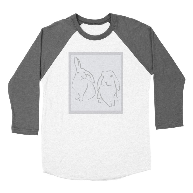 Pixie and Stan, a drawing of rabbits. Women's Longsleeve T-Shirt by snapdragon64's Shop