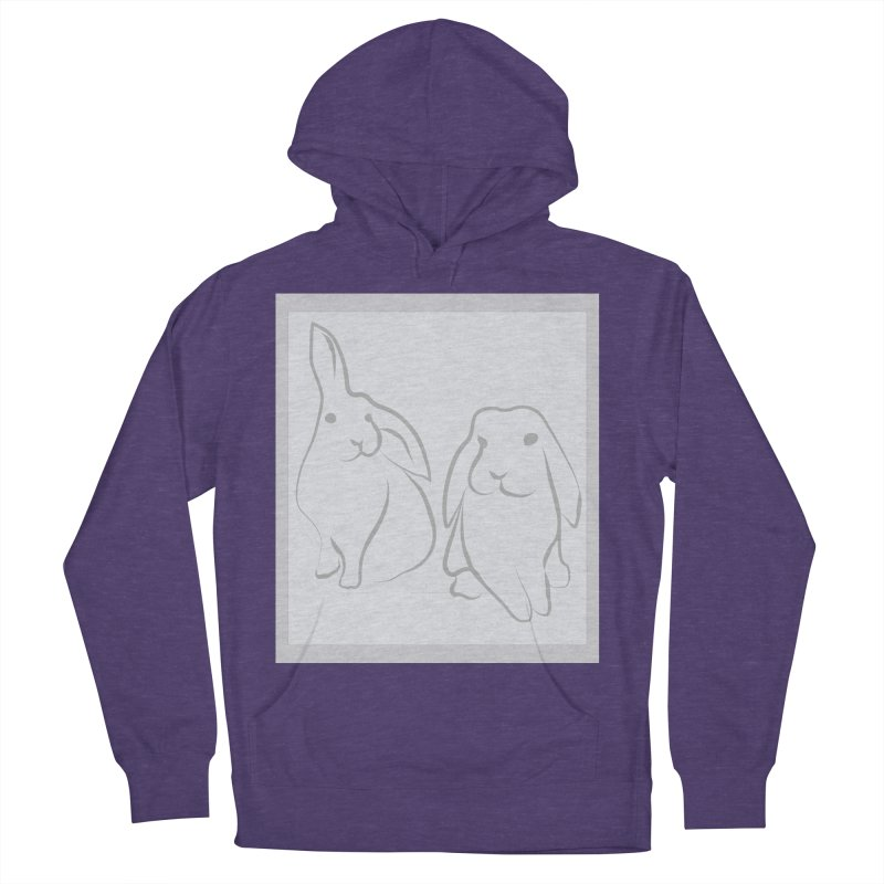 Pixie and Stan, a drawing of rabbits. Women's Pullover Hoody by snapdragon64's Shop