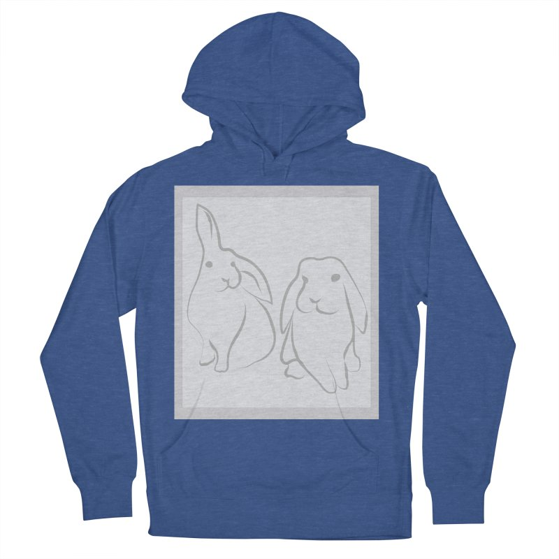 Pixie and Stan, a drawing of rabbits. Men's French Terry Pullover Hoody by snapdragon64's Shop