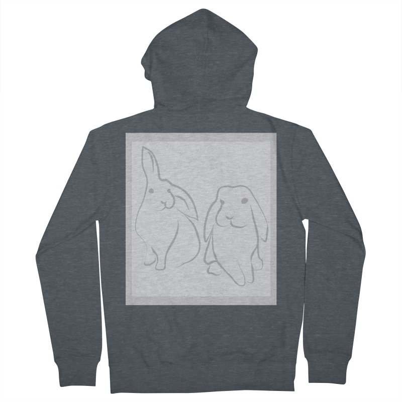 Pixie and Stan, a drawing of rabbits. Women's Zip-Up Hoody by snapdragon64's Shop