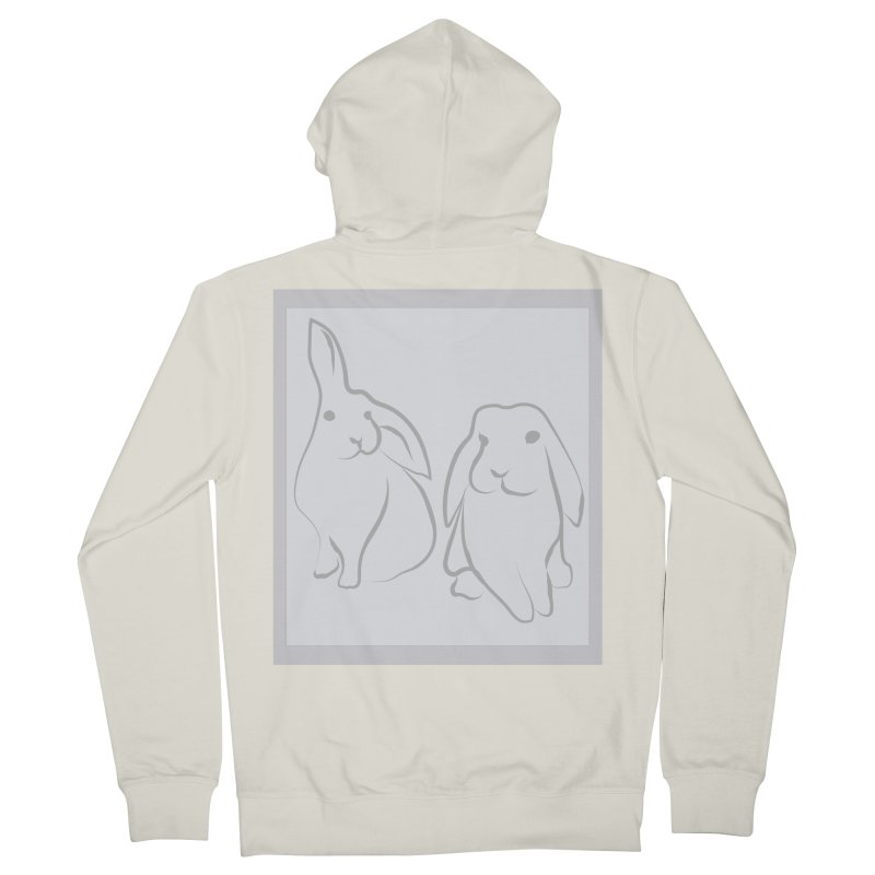 Pixie and Stan, a drawing of rabbits. Men's Zip-Up Hoody by snapdragon64's Shop
