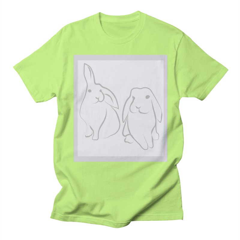 Pixie and Stan, a drawing of rabbits. Men's Regular T-Shirt by snapdragon64's Shop