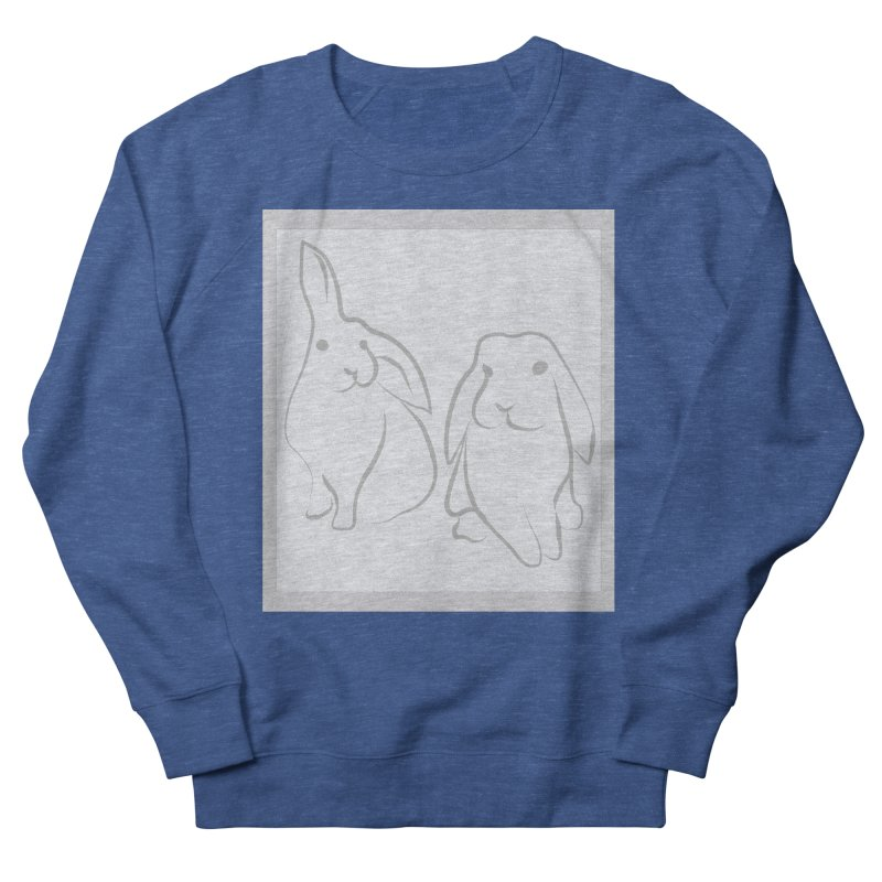 Pixie and Stan, a drawing of rabbits. Women's French Terry Sweatshirt by snapdragon64's Shop