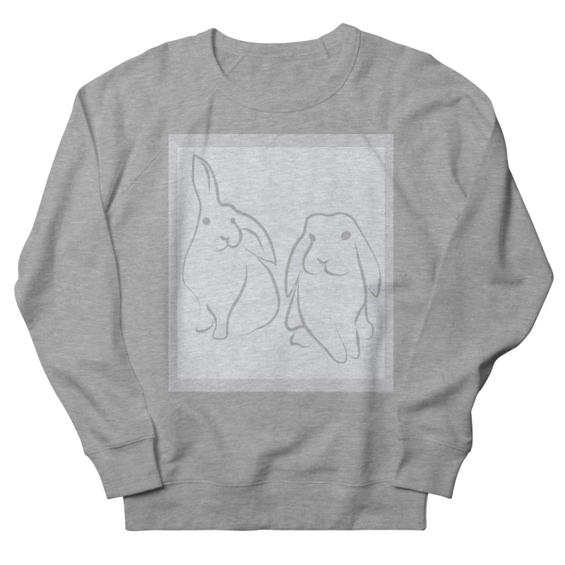 Pixie and Stan, a drawing of rabbits. Women's Sweatshirt by snapdragon64's Shop