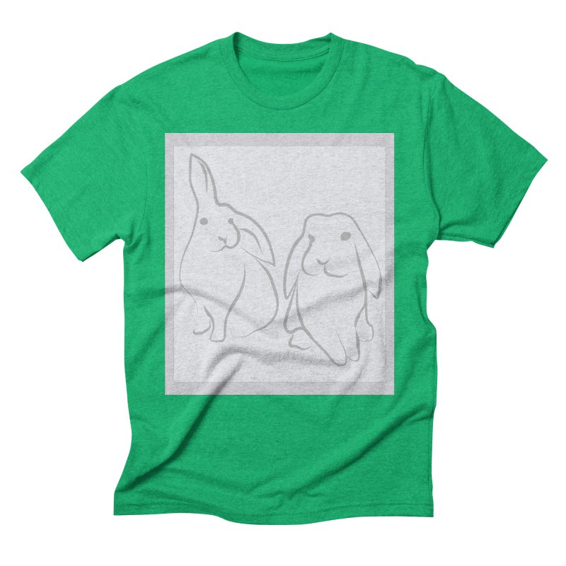 Pixie and Stan, a drawing of rabbits. Men's Triblend T-Shirt by snapdragon64's Shop