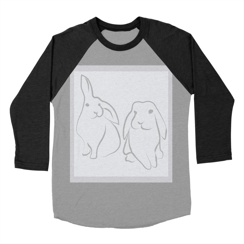 Pixie and Stan, a drawing of rabbits. Women's Baseball Triblend T-Shirt by snapdragon64's Shop