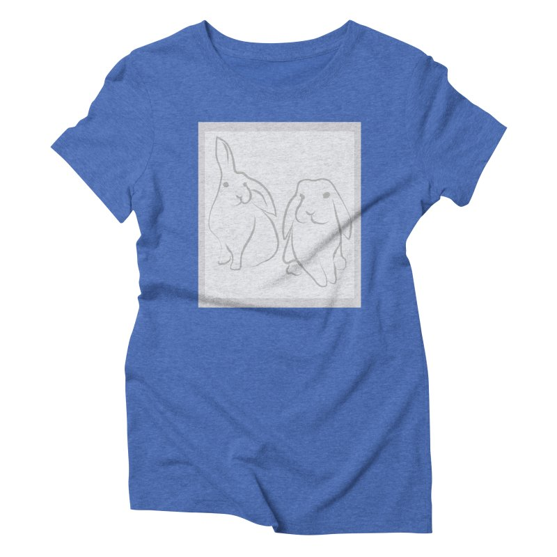 Pixie and Stan, a drawing of rabbits. Women's T-Shirt by snapdragon64's Shop