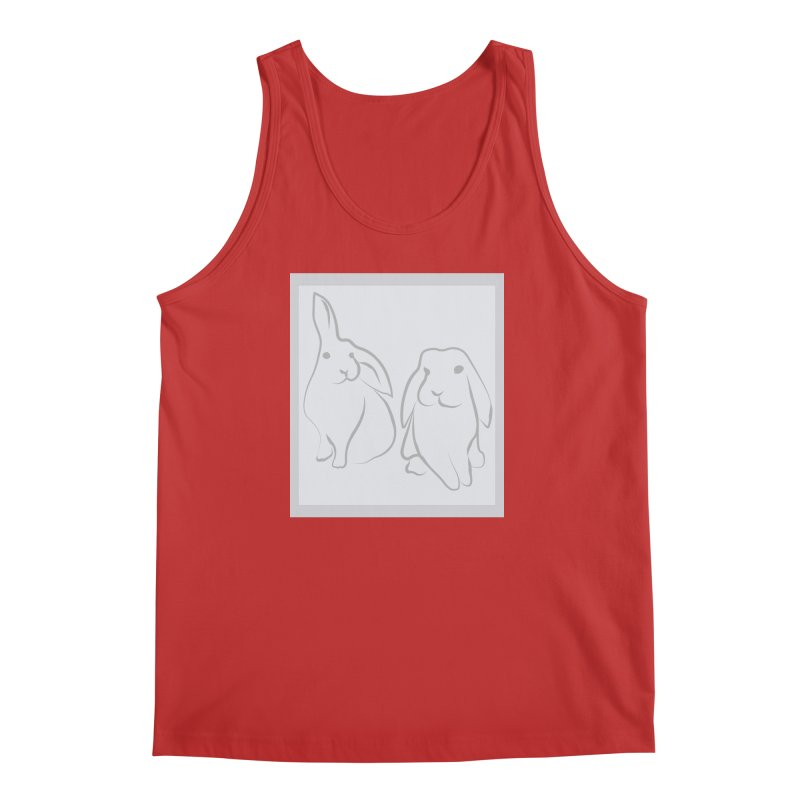 Pixie and Stan, a drawing of rabbits. Men's Regular Tank by snapdragon64's Shop