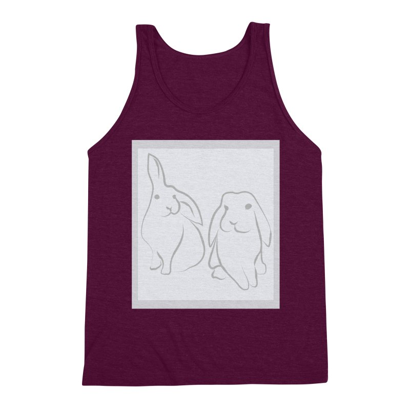 Pixie and Stan, a drawing of rabbits. Men's Triblend Tank by snapdragon64's Shop
