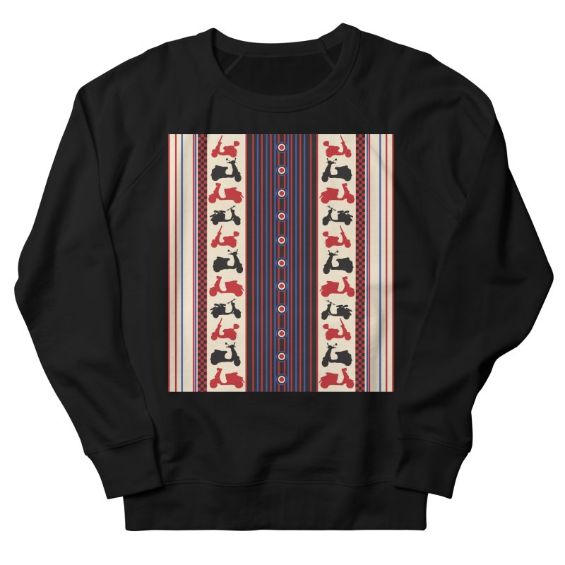 Mod scooters Women's French Terry Sweatshirt by snapdragon64's Shop