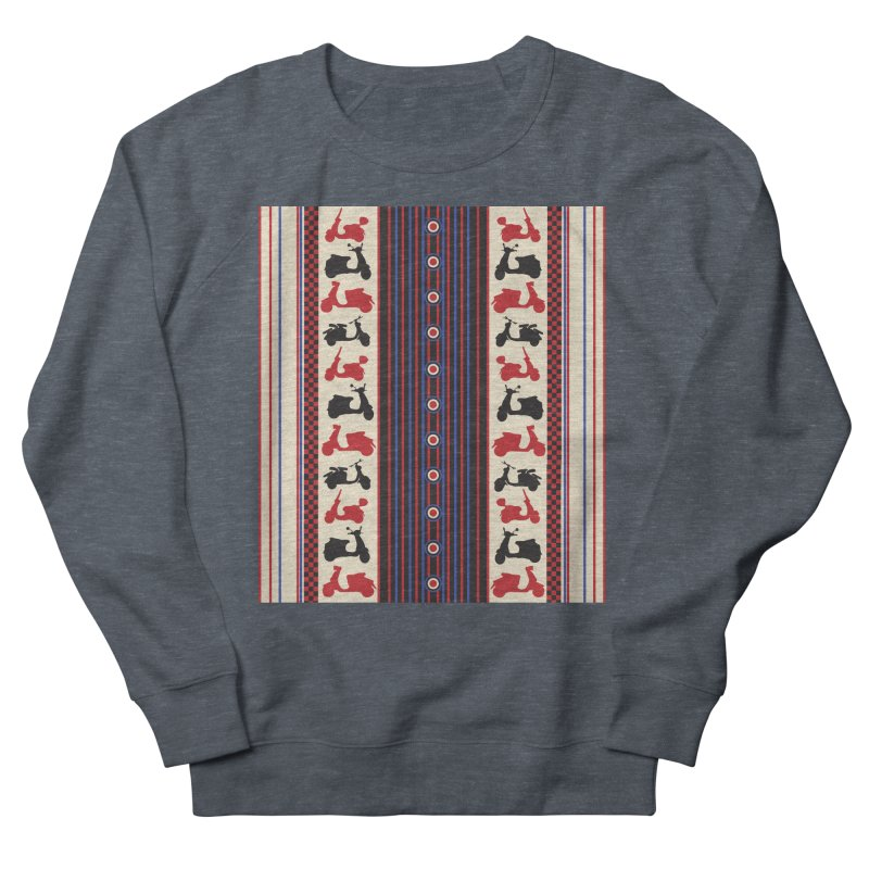 Mod scooters Men's French Terry Sweatshirt by snapdragon64's Shop