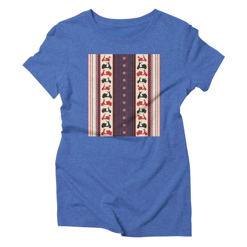 Mod scooters Women's Triblend T-shirt by snapdragon64's Shop