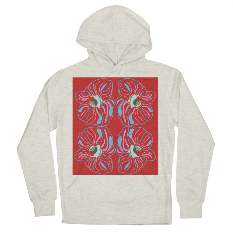 Bright orchid mirrored Women's Pullover Hoody by snapdragon64's Shop
