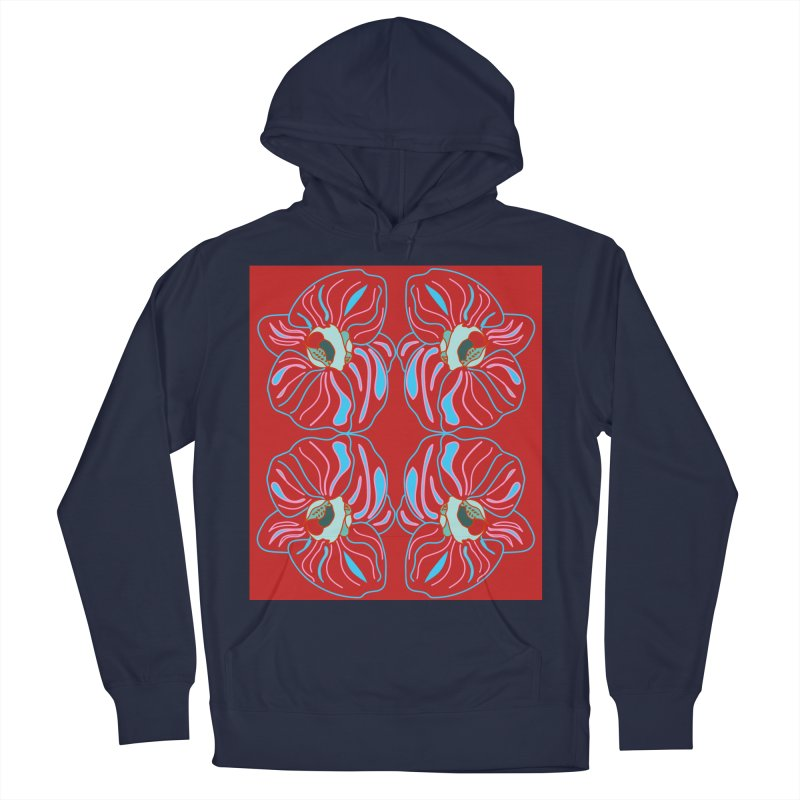 Bright orchid mirrored Women's French Terry Pullover Hoody by snapdragon64's Shop