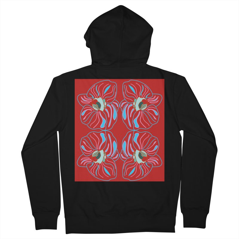 Bright orchid mirrored Women's Zip-Up Hoody by snapdragon64's Shop