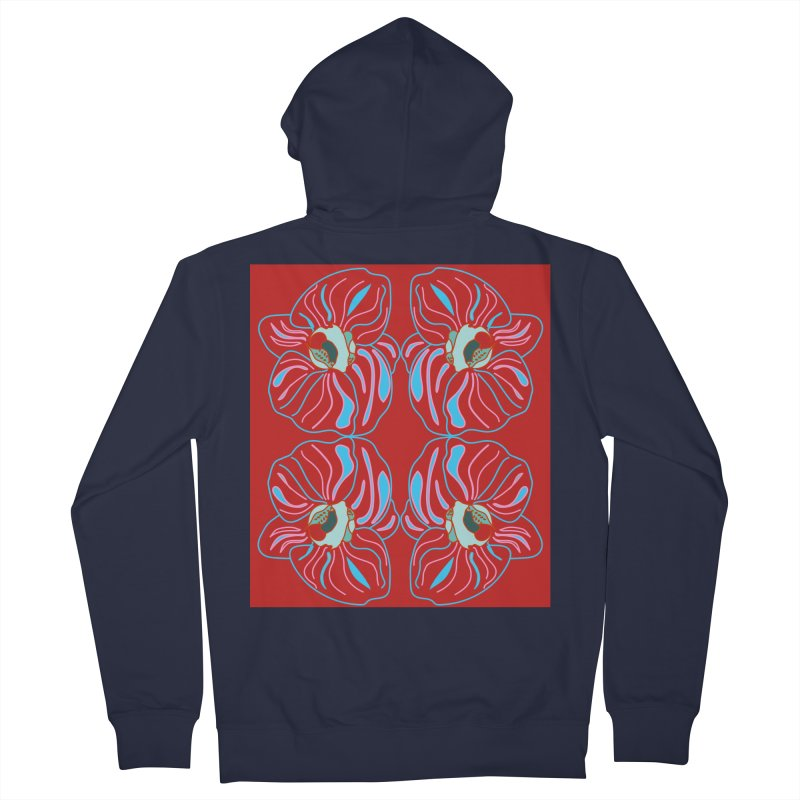 Bright orchid mirrored Women's French Terry Zip-Up Hoody by snapdragon64's Shop