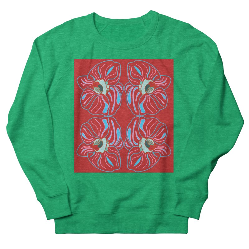 Bright orchid mirrored Women's Sweatshirt by snapdragon64's Shop