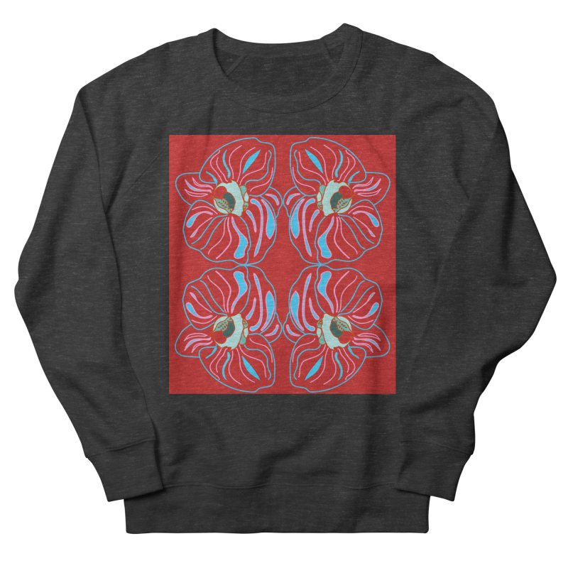 Bright orchid mirrored Women's French Terry Sweatshirt by snapdragon64's Shop