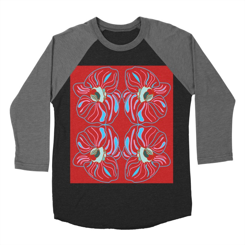 Bright orchid mirrored Women's Baseball Triblend Longsleeve T-Shirt by snapdragon64's Shop