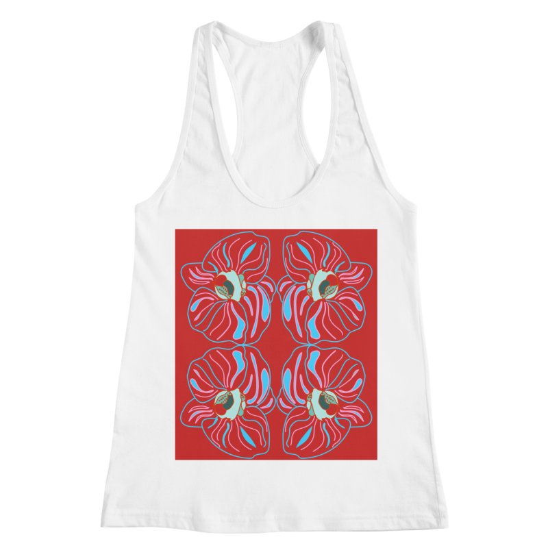 Bright orchid mirrored Women's Racerback Tank by snapdragon64's Shop