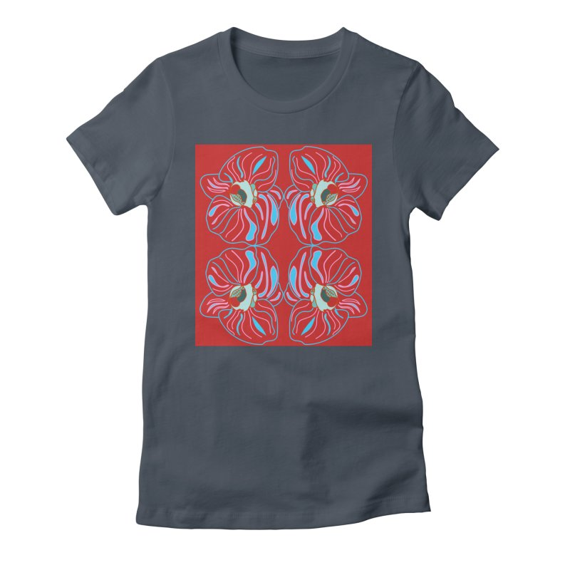 Bright orchid mirrored Women's T-Shirt by snapdragon64's Shop