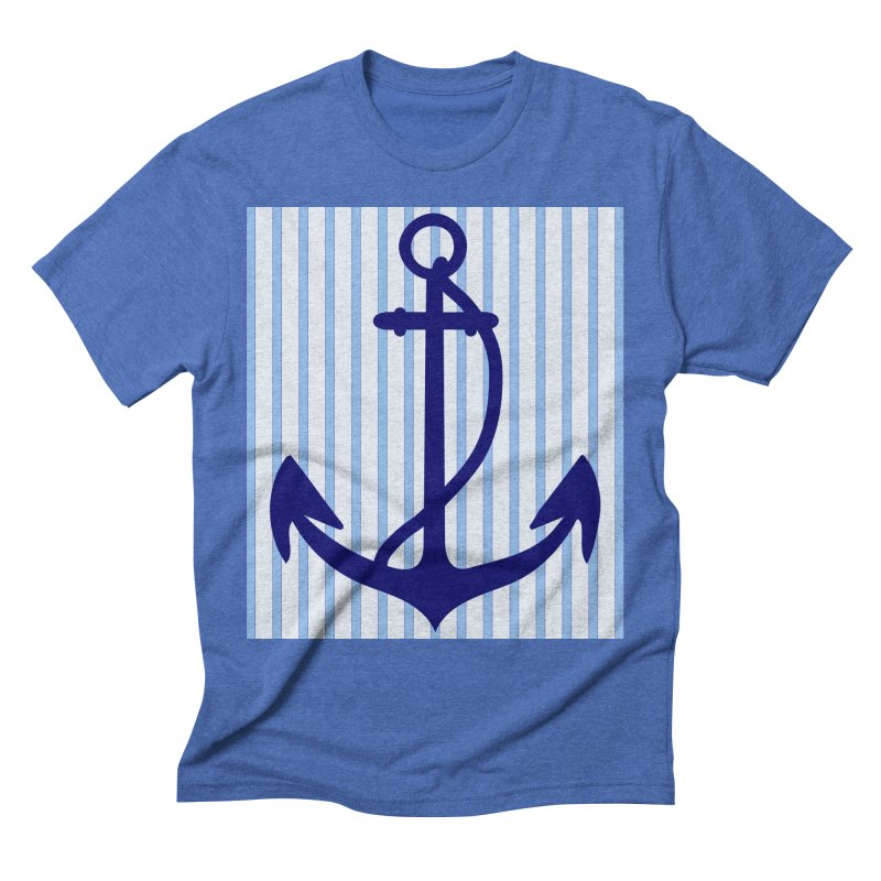 Nautical stripes and anchor Men's T-Shirt by snapdragon64's Shop