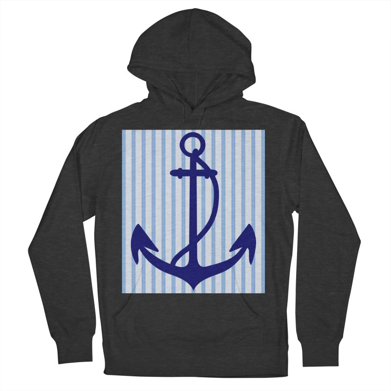 Nautical stripes and anchor Men's Pullover Hoody by snapdragon64's Shop