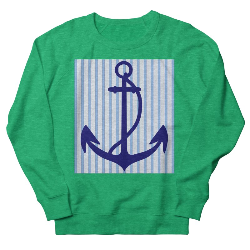Nautical stripes and anchor Women's Sweatshirt by snapdragon64's Shop