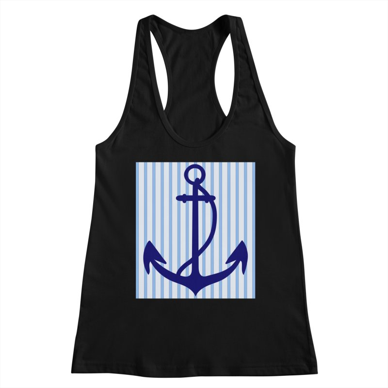 Nautical stripes and anchor Women's Tank by snapdragon64's Shop