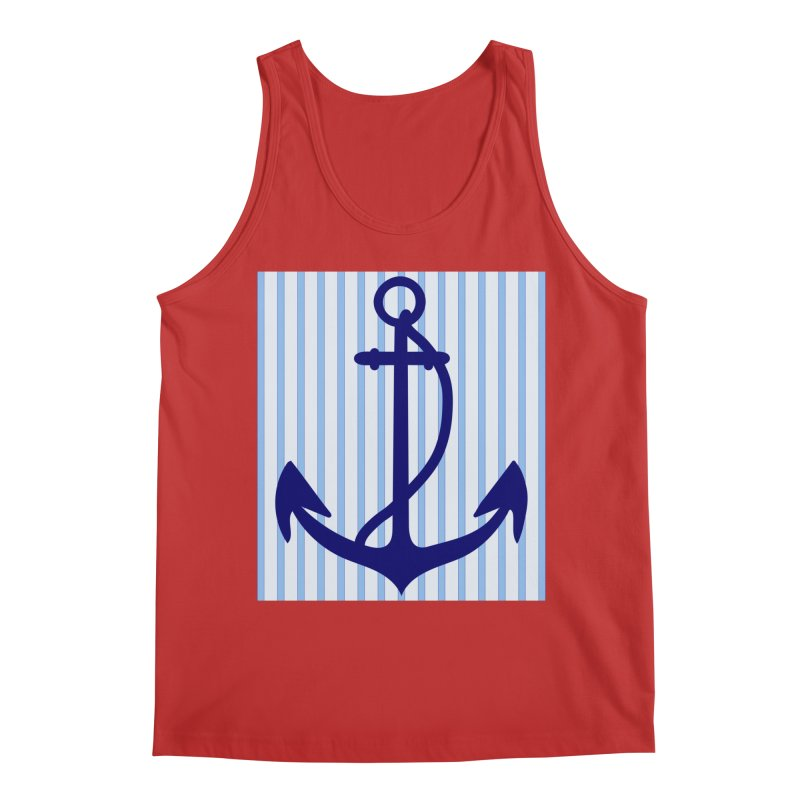 Nautical stripes and anchor Men's Regular Tank by snapdragon64's Shop