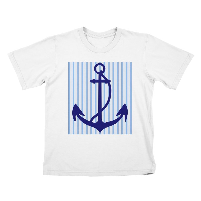 Nautical stripes and anchor Kids T-shirt by snapdragon64's Shop