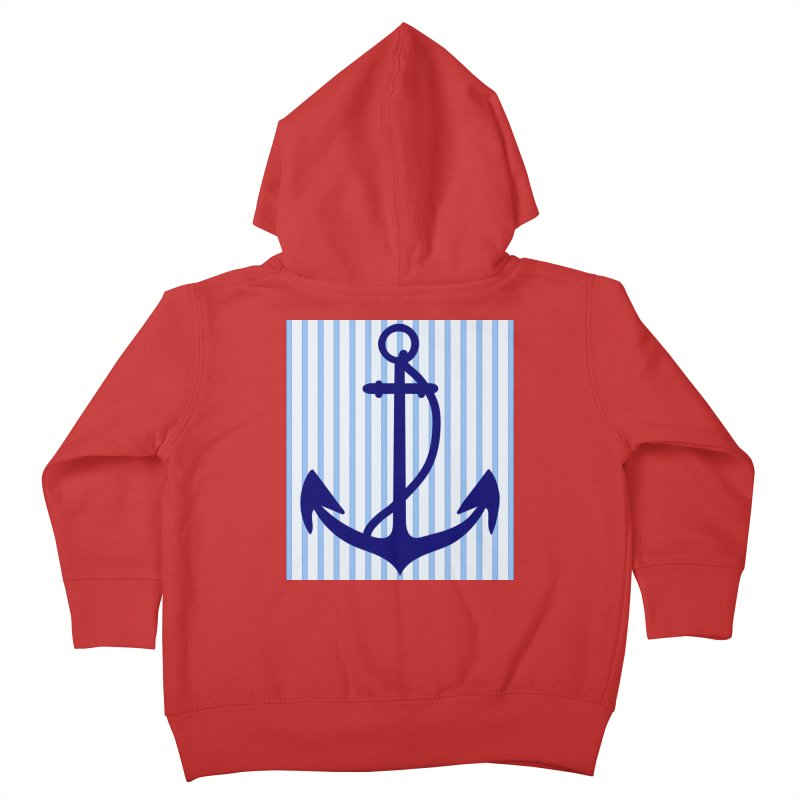 Nautical stripes and anchor Kids Toddler Zip-Up Hoody by snapdragon64's Shop