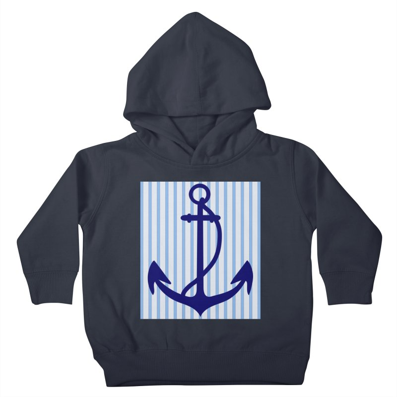 Nautical stripes and anchor Kids Toddler Pullover Hoody by snapdragon64's Shop