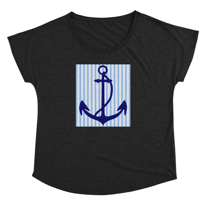 Nautical stripes and anchor Women's Dolman by snapdragon64's Shop