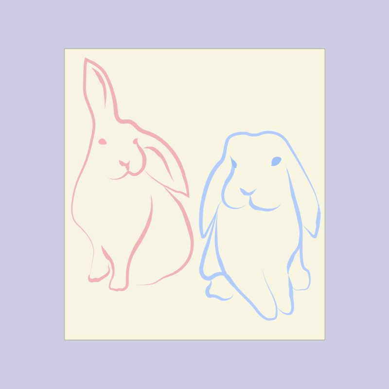 Drawing of two rabbits, in colour. by snapdragon64's Shop