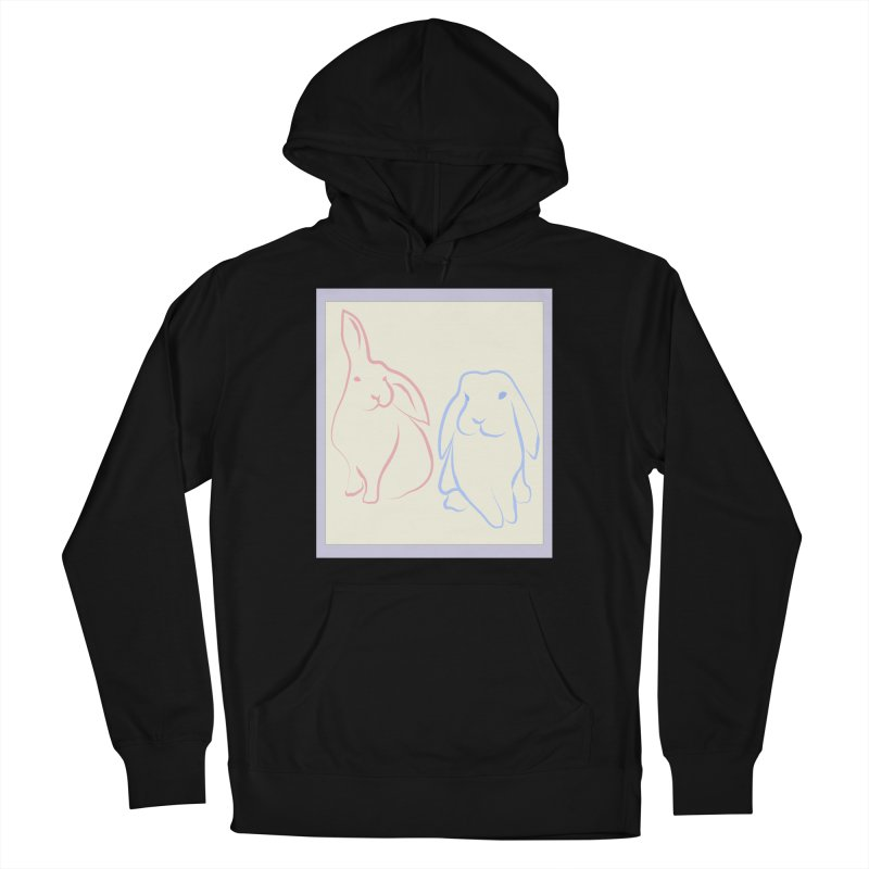 Drawing of two rabbits, in colour. Women's French Terry Pullover Hoody by snapdragon64's Shop