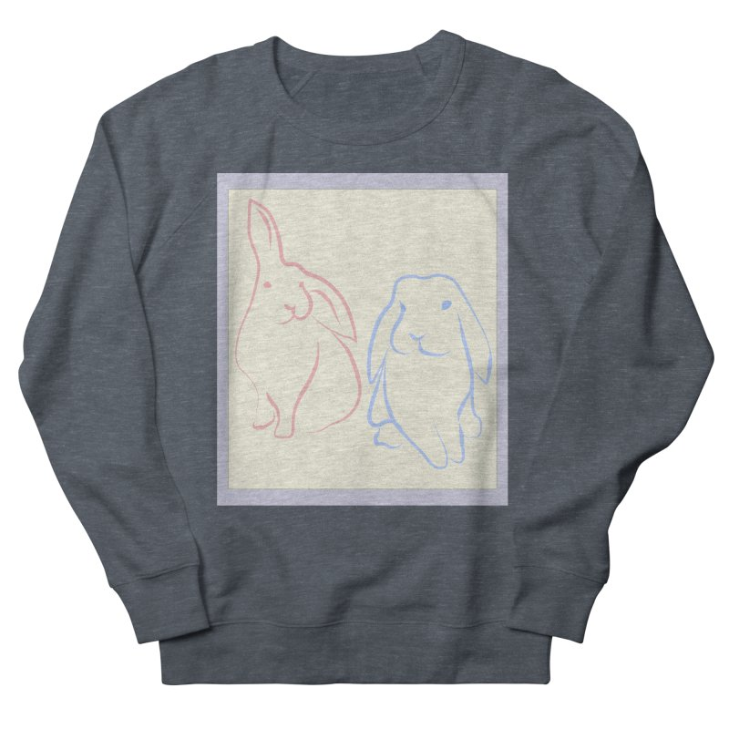 Drawing of two rabbits, in colour. Women's Sweatshirt by snapdragon64's Shop
