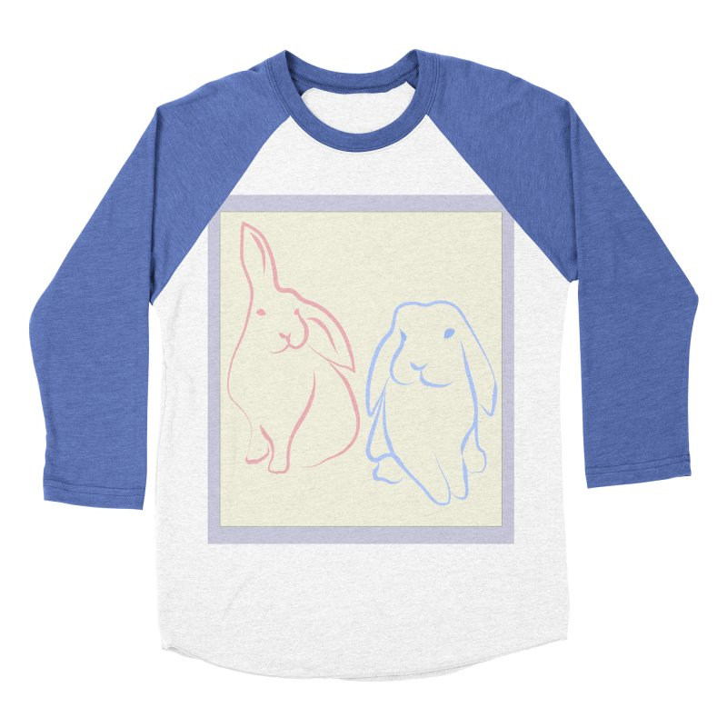 Drawing of two rabbits, in colour. Women's Baseball Triblend T-Shirt by snapdragon64's Shop