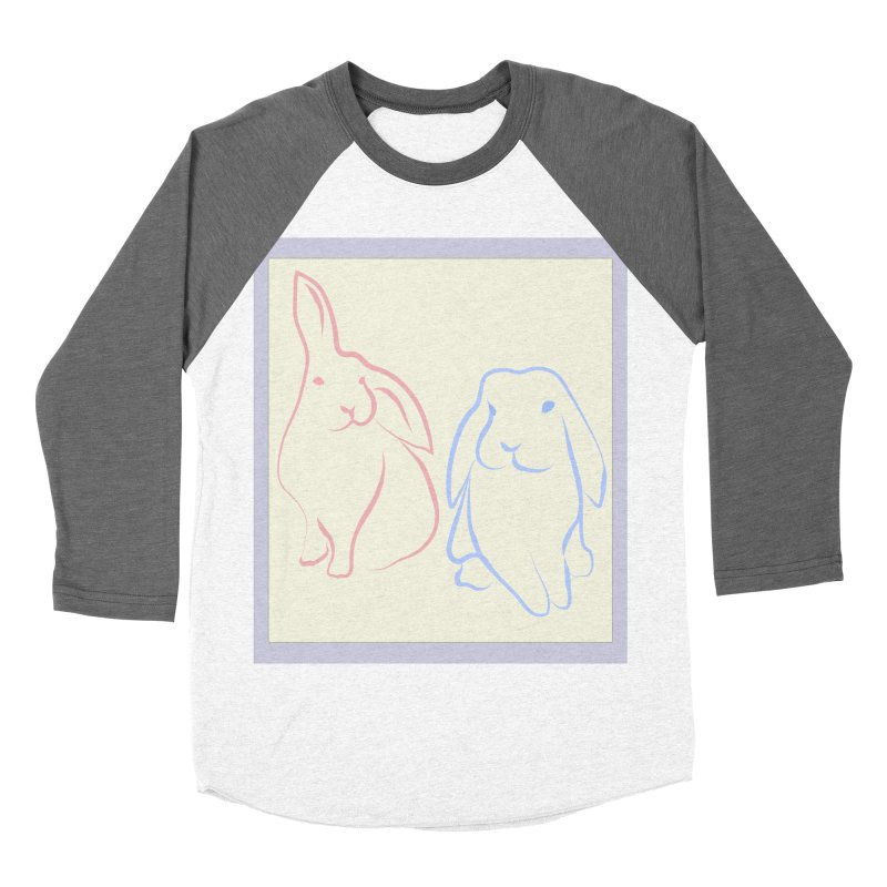 Drawing of two rabbits, in colour. Women's Longsleeve T-Shirt by snapdragon64's Shop