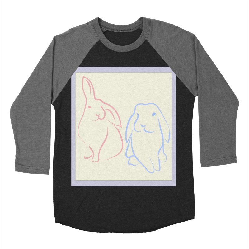 Drawing of two rabbits, in colour. Women's Baseball Triblend Longsleeve T-Shirt by snapdragon64's Shop