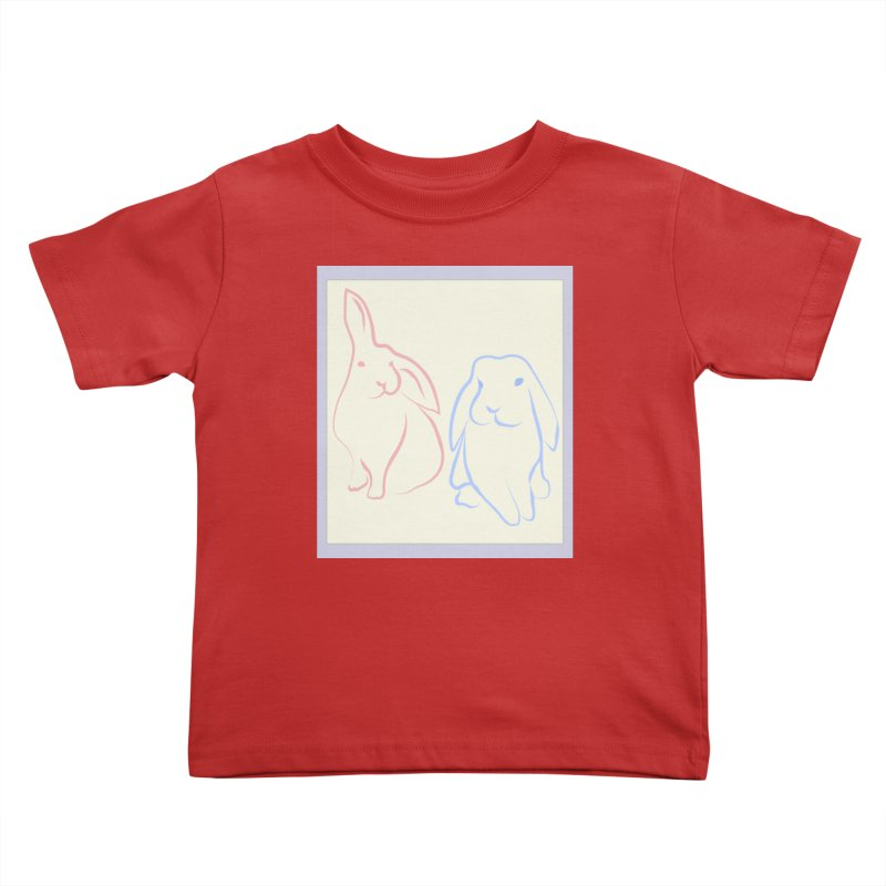 Drawing of two rabbits, in colour. Kids Toddler T-Shirt by snapdragon64's Shop