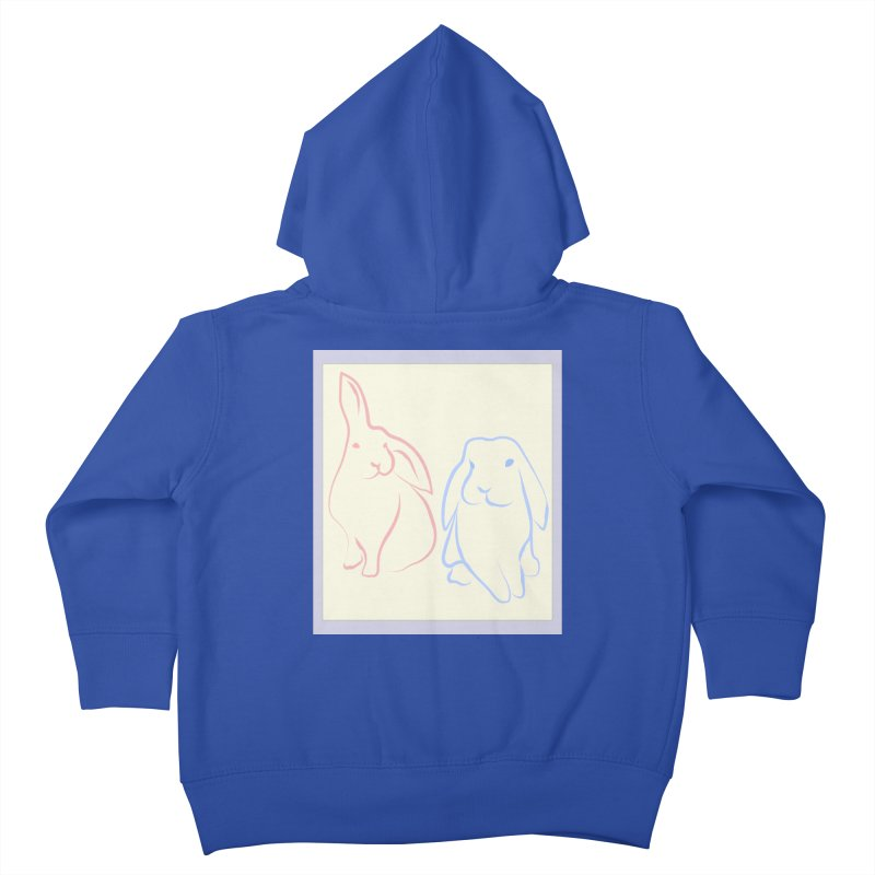 Drawing of two rabbits, in colour. Kids Toddler Zip-Up Hoody by snapdragon64's Shop