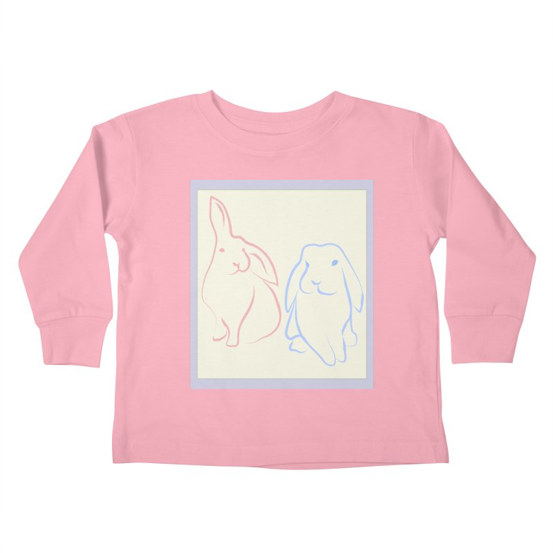 Drawing of two rabbits, in colour. Kids Toddler Longsleeve T-Shirt by snapdragon64's Shop