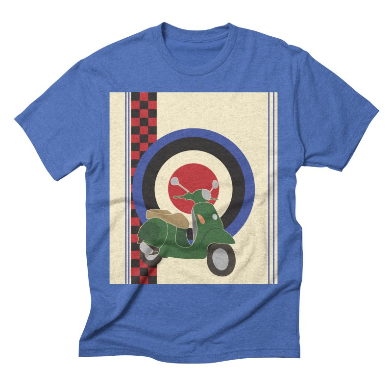 Mod scooter with symbols Men's T-Shirt by snapdragon64's Shop